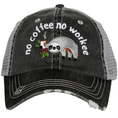 Katydid South Carolina Pastel Plaid Trucker Hats