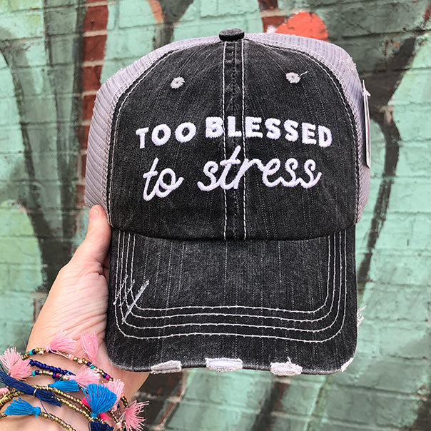 Too Blessed Trucker Hats