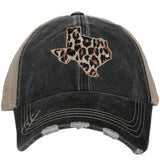 Katydid Leopard Texas CUT OUT STATE Hats - Katydid.com