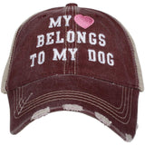 Katydid My Heart Belongs To My Dog Trucker Hats - Katydid.com