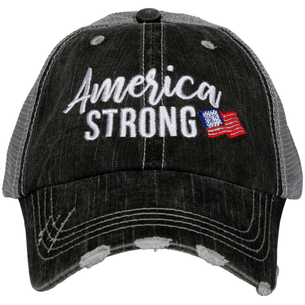America Strong Women's Trucker Hat - Katydid.com