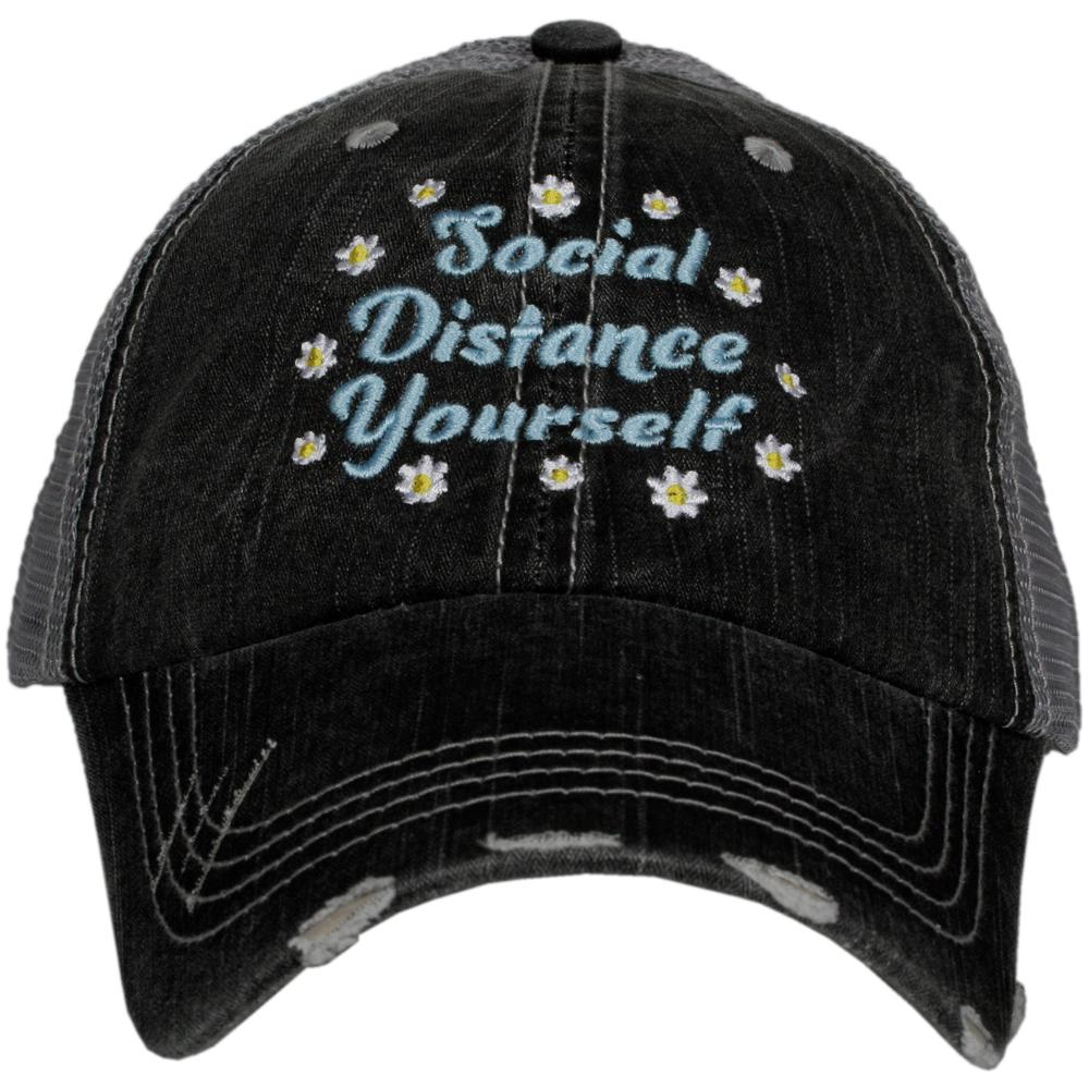 Katydid Social Distance Yourself w/ FLOWERS Trucker Hats - Katydid.com