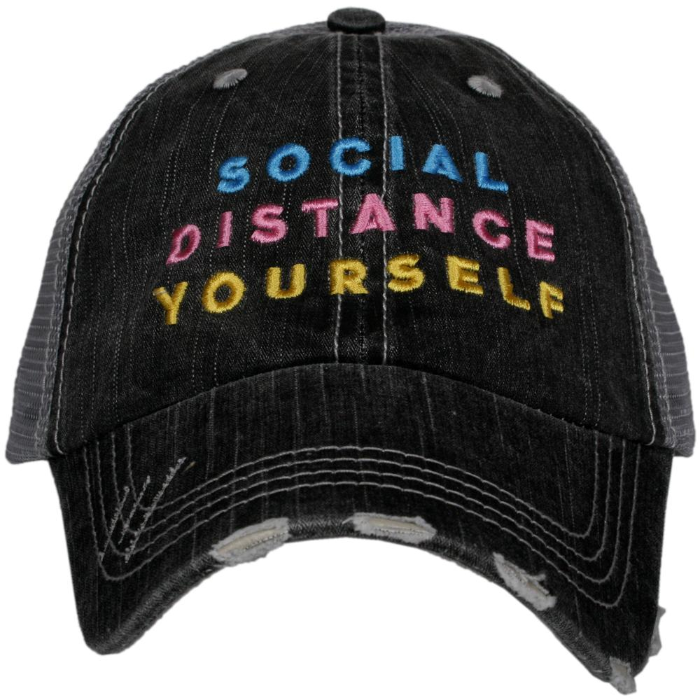 Katydid Social Distance Yourself Trucker Hats - Katydid.com
