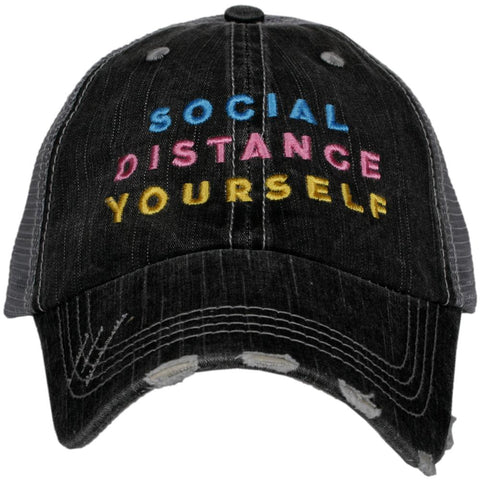 Katydid Social Distance Yourself w/ FLOWERS Trucker Hats