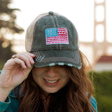 Katydid American Flag Women's Trucker Hat