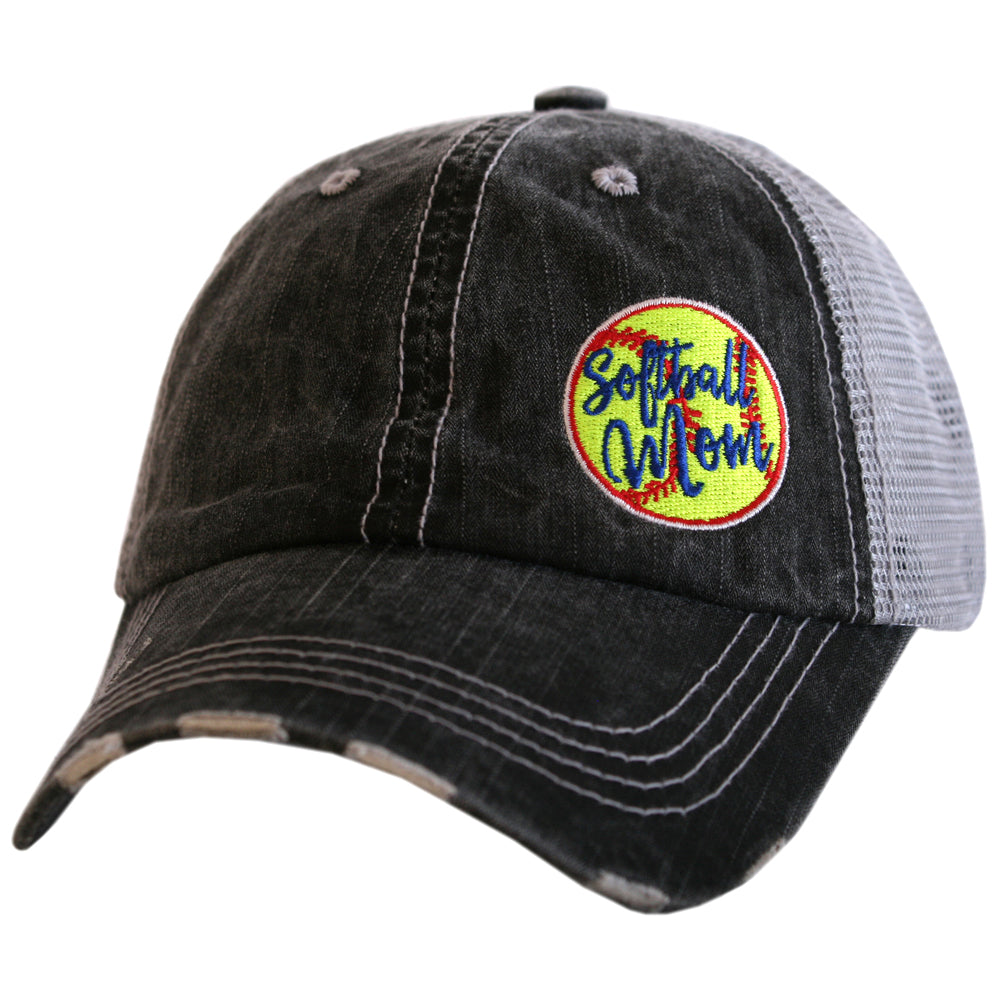 Softball Mom Side Patch Trucker Hat - Katydid.com