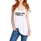 Happy Wife Happy Life Graphic Tank Top - Katydid.com