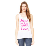 Hope Faith Love Pink Ribbon Tank Top - Katydid.com