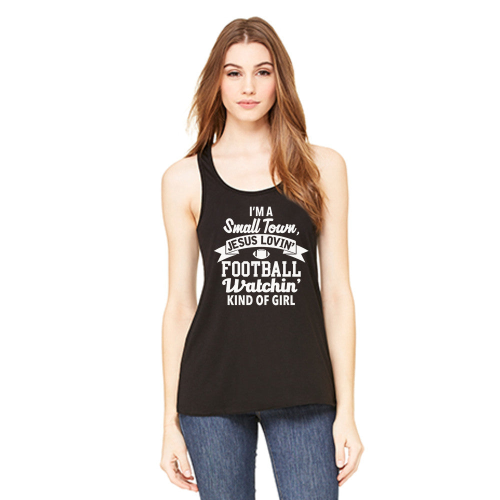 Small Town Football Kind of Girl Tank Top