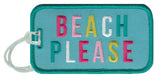 Beach Please Luggage Tags - Katydid.com