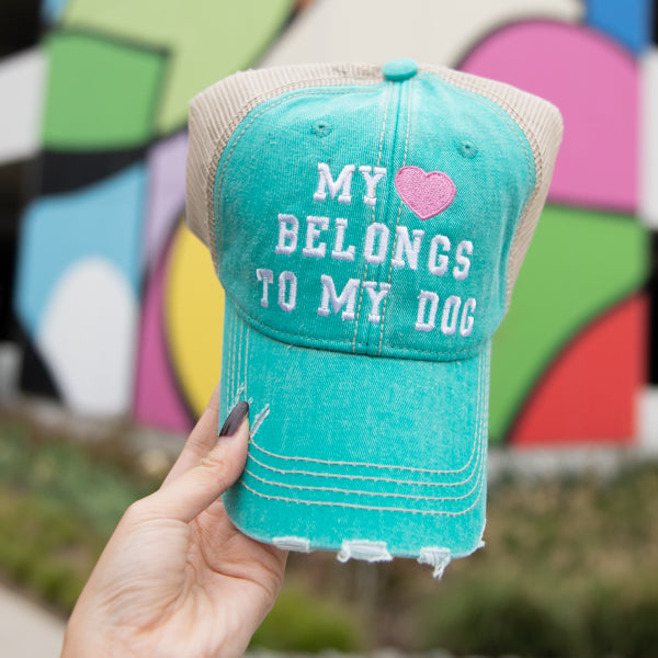 My Heart Belongs To My Dog Trucker Hats