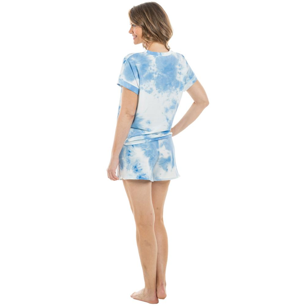 Light Blue and White Tie Dye Loungewear Set