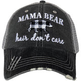 Mama Bear Hair Don't Care Trucker Hats