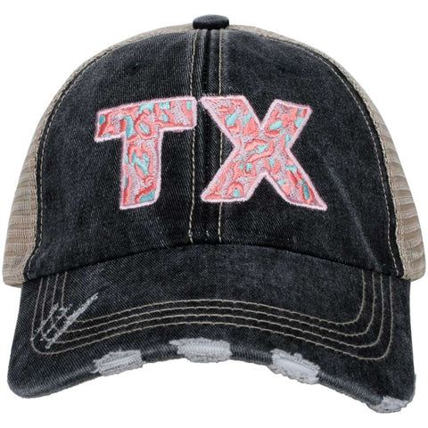 Texas Shape Rainbow Striped Women's Trucker Hats