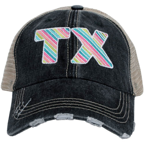 Tennessee Pastel Plaid Trucker Hats