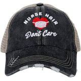 Nurse Hair Don't Care w/ Mask Trucker Hats