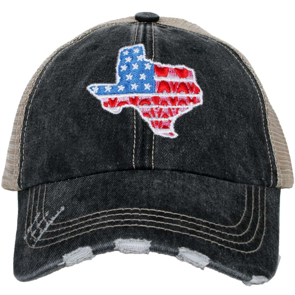 Texas Shape Flag Trucker Hats