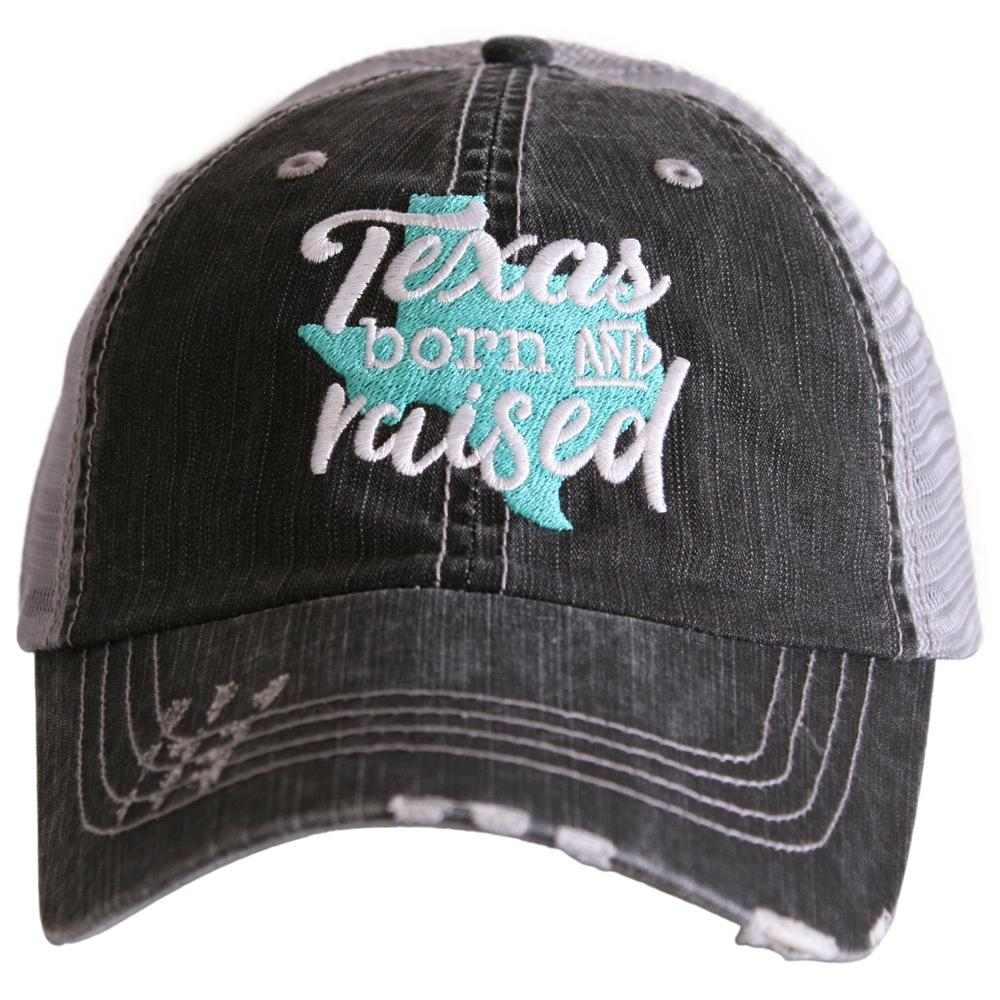 Texas Born and Raised Women's Trucker Hat - Katydid.com