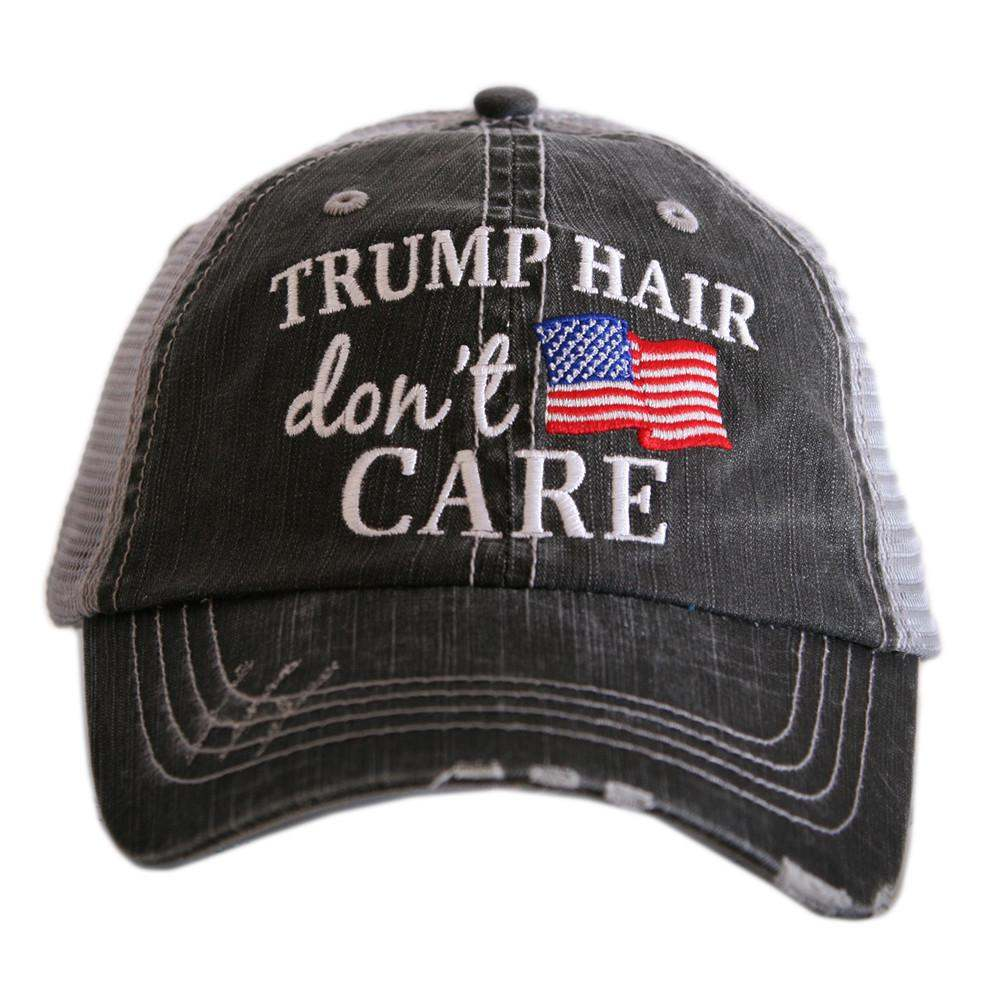 Trump Hair Don't Care Trucker Hat - Katydid.com