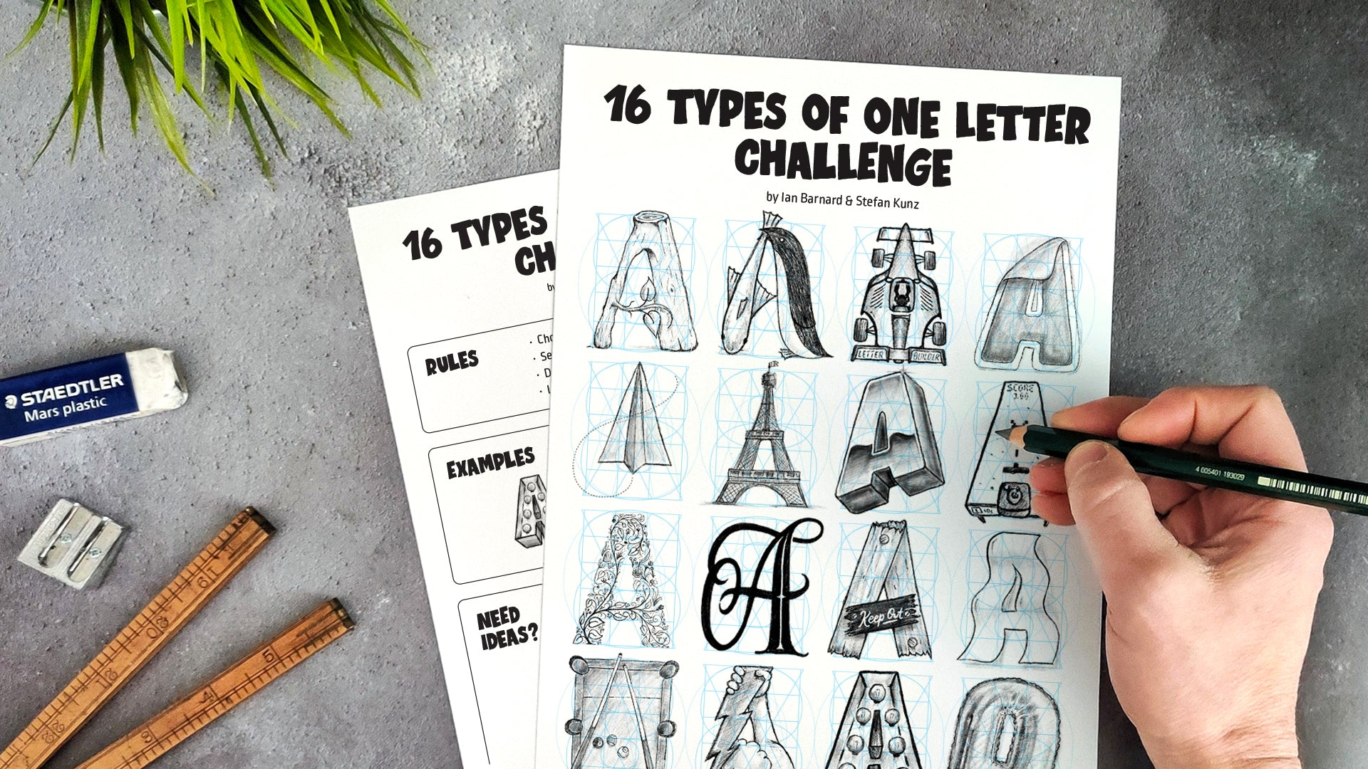 16 Types of One Letter Challenge