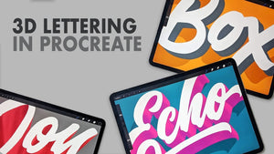 3 Ways to Create 3D Lettering in Procreate