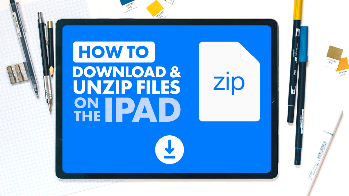 How to Download and Unzip files on the iPad