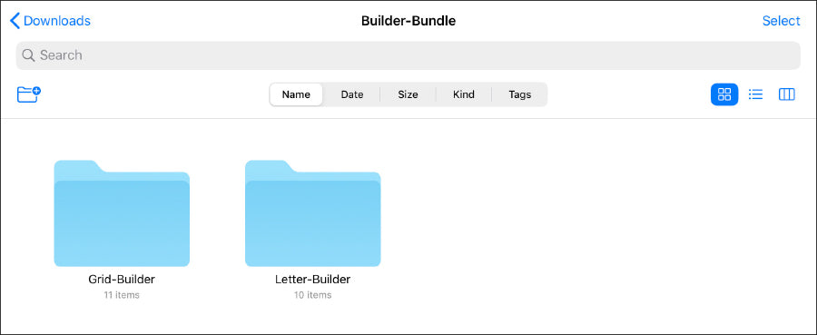 files-app-grid-builder