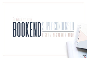 BOOKEND - Supercondensed Typeface