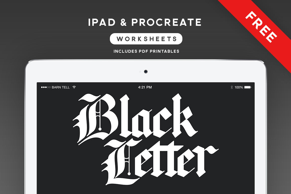 Blackletter Calligraphy Worksheets for Procreate