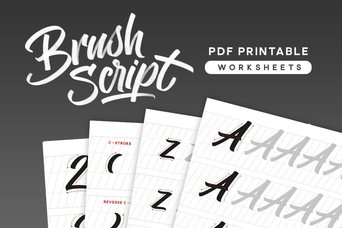 Brush Script PDF Calligraphy Worksheets