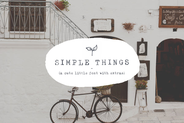 Simple Things - A cute little font