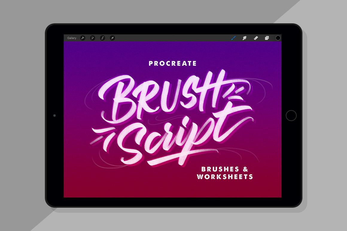 Procreate Brush Script Brushes & Worksheets