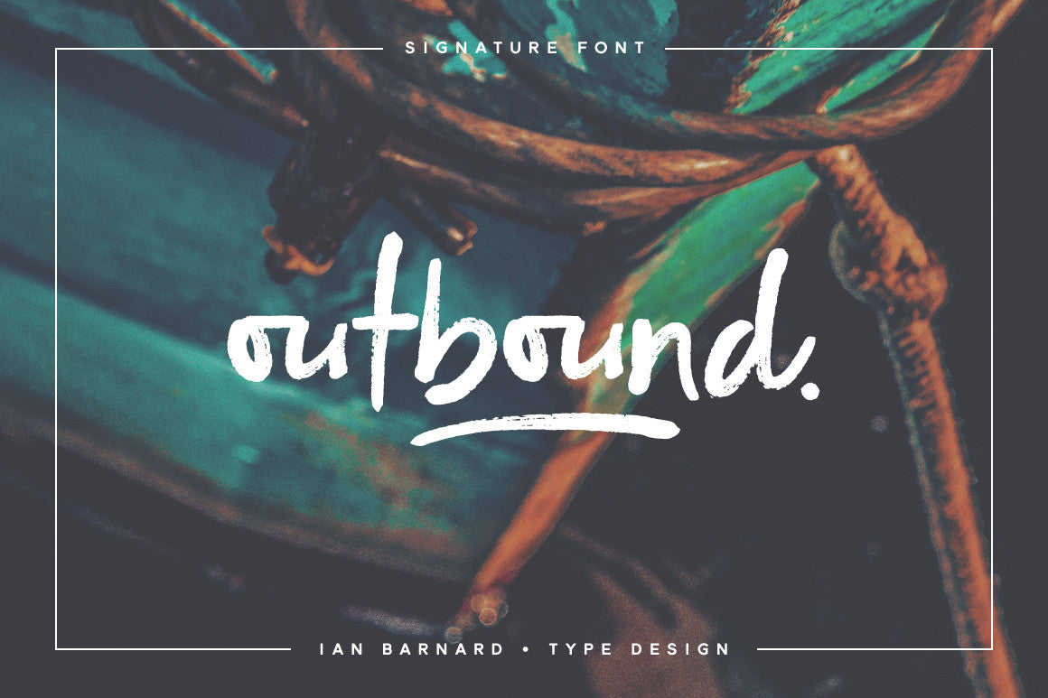 Outbound - Signature font