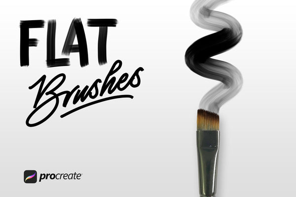 Flat Brushes for Procreate