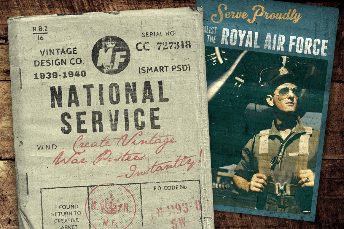 National Service - War Posters Kit