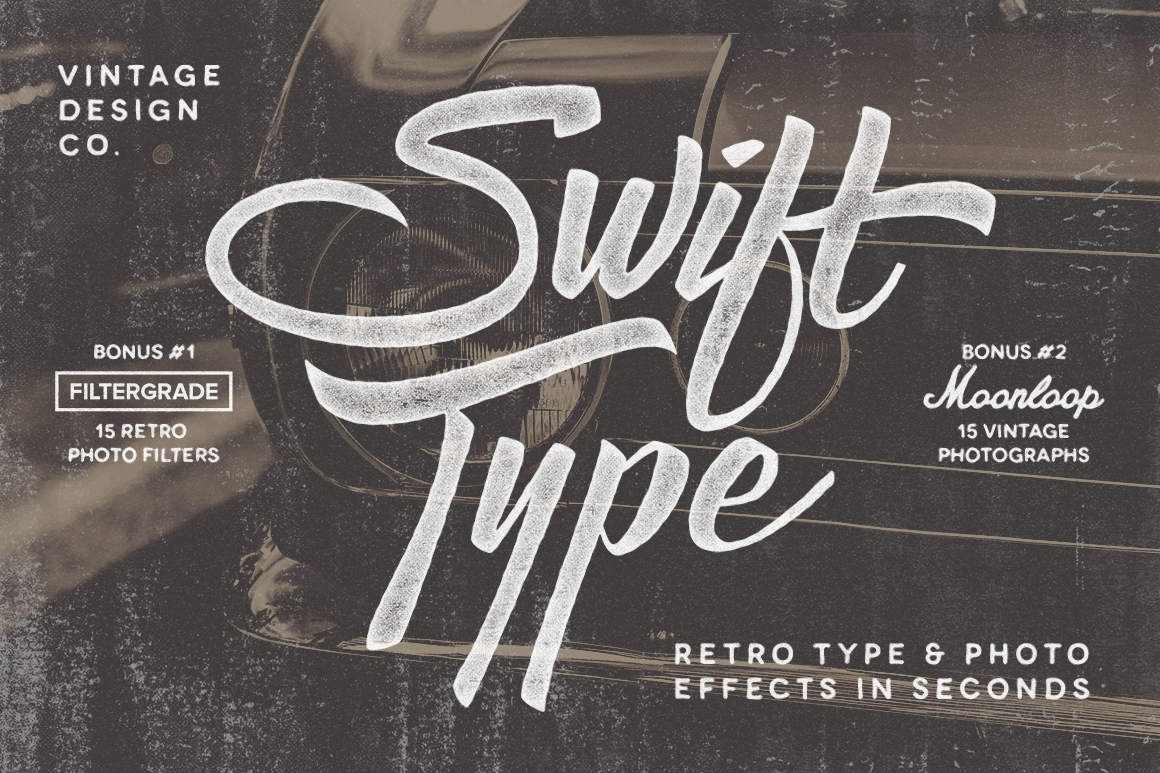 SwiftType - Retro Type & Photo PSD