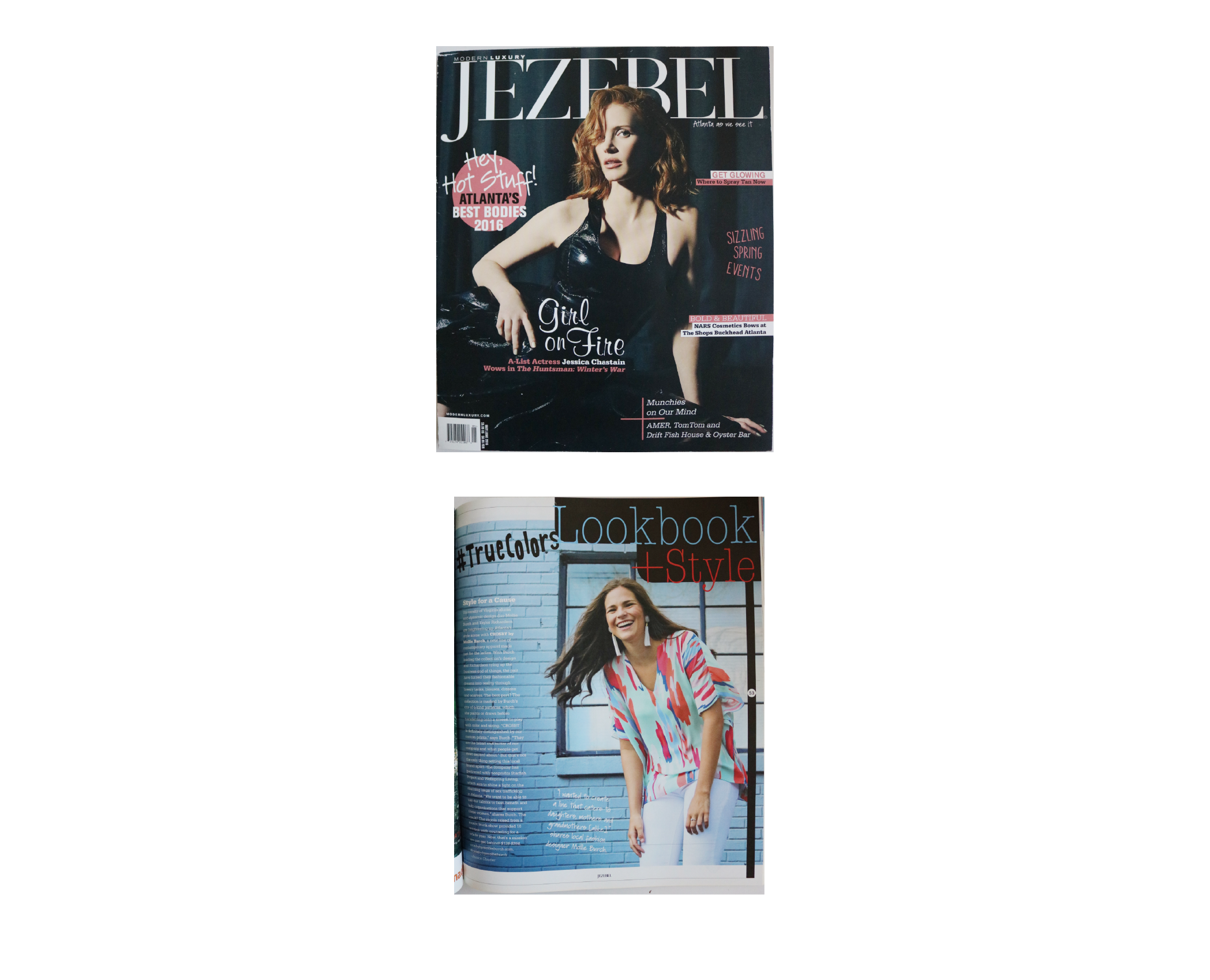 Jezebel | May 2016 | Cover and Style for Cause magazine article pages