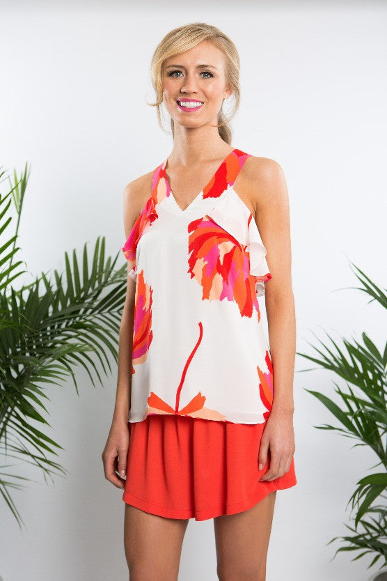 VIRGINIA RUFFLE TANK