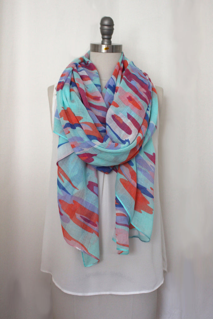 Falling Floral Printed Scarf