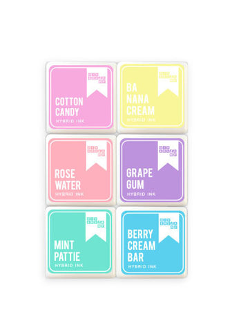 Pastel Mix Mini Ink Pads 6 Pack