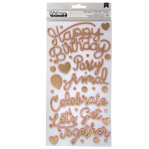 Stickers Confetti Wishes Phrase