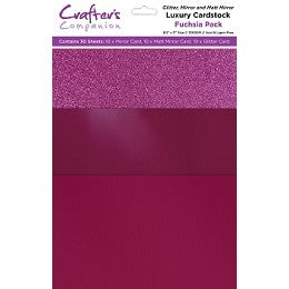 Hojas Luxury Mixed Card Pack 8.5x11 Fuchsia