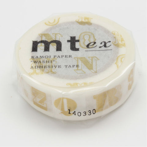 Alphabet R, Gold Washi Tape