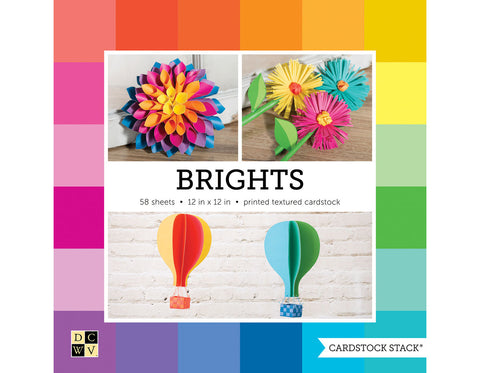 Colores Brillantes Block de papel 12x12""
