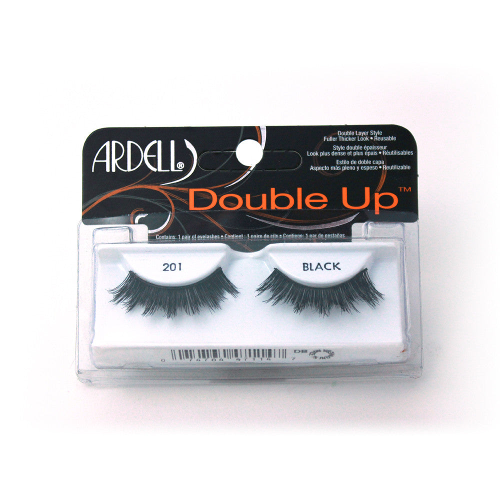 Pestañas postizas de pelo natural. Double up 201 black. Ardell