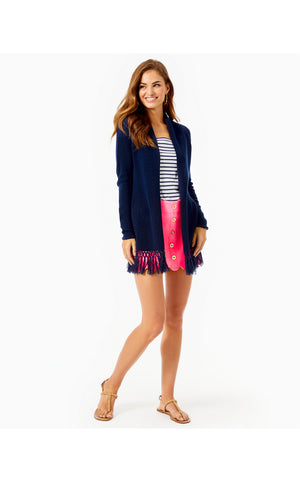 Load image into Gallery viewer, Tatum Long Fringe Hem Cardigan