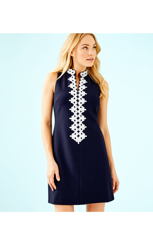 Load image into Gallery viewer, Callista High Collar Shift Dress