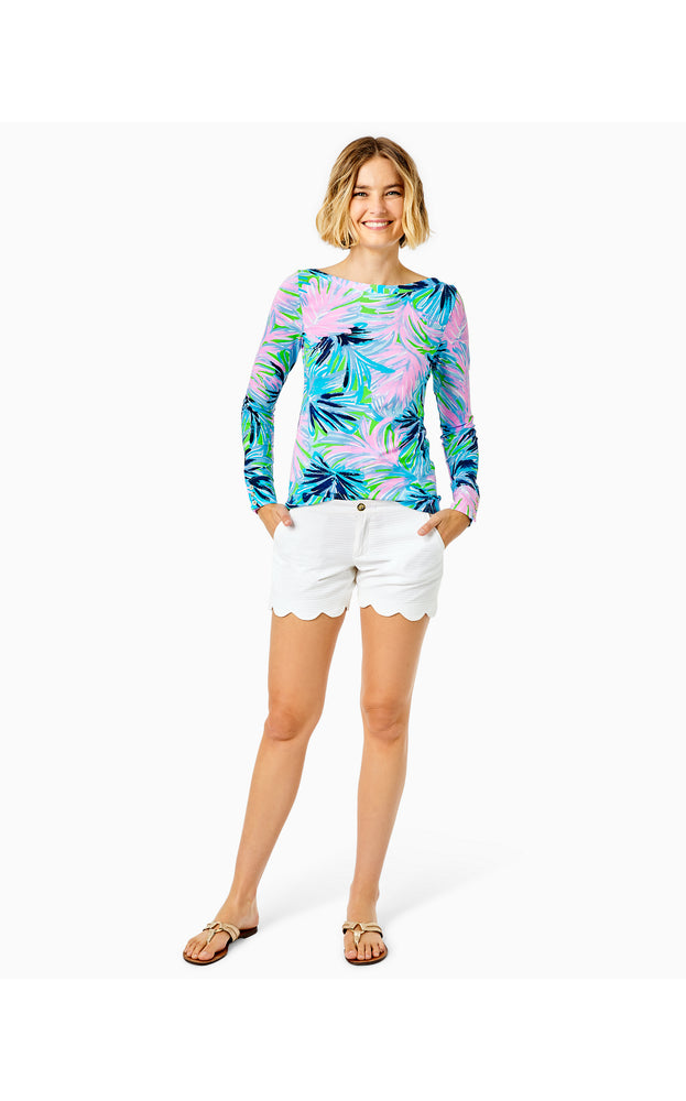 "5"" Buttercup Scallop Hem Short - Resort White"