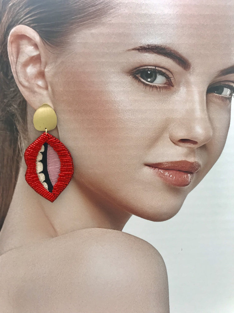 Load image into Gallery viewer, Lip Earrings