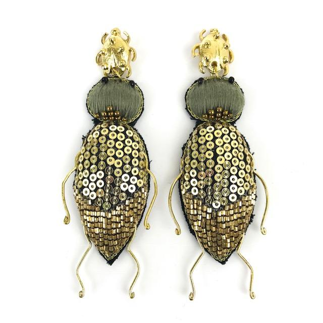 Load image into Gallery viewer, Beetle Earrings